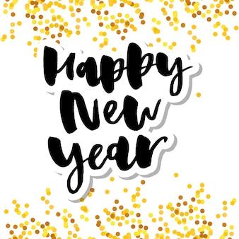 Iscrizione di felice anno nuovo