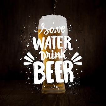 Iscrizione di giornata internazionale della birra con foto