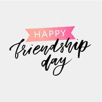 Iscrizione di giorno felice amicizia