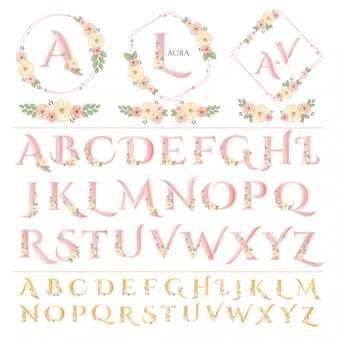 Iscrizione di matrimonio floreale