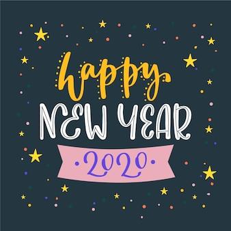 Iscrizione felice anno nuovo 2020