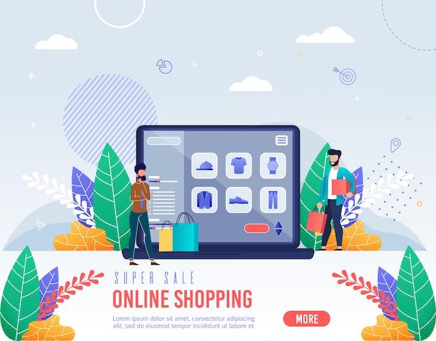 Iscrizione poster vendita super shopping online.