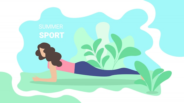 Iscrizione sportiva d'estate flyer