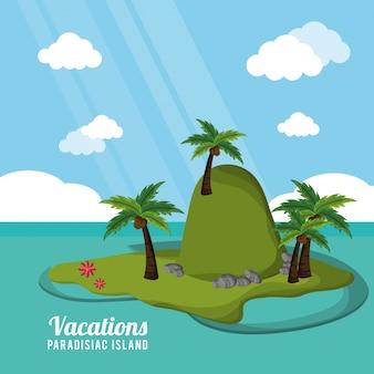 Isola paradisiaca di vacanze tropicali caraibiche