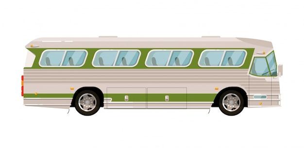 Isolato di trasporto del bus di spola su fondo bianco
