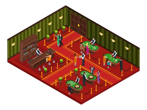 Isometrica casino gaming room concept