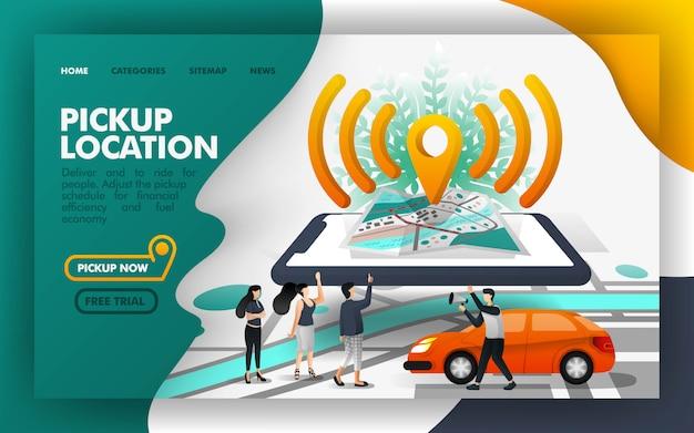 Isometrica pickup location transportation