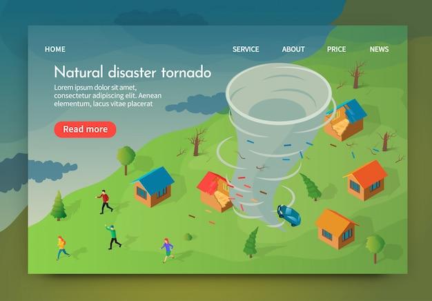 Isometrico è scritto tornado di disastro naturale.