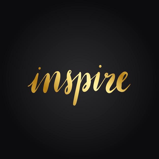Ispirare il vettore di stile di tipografia di parola
