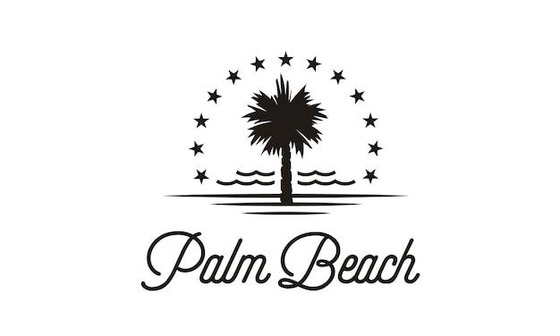Ispirazione al design del logo di palm beach