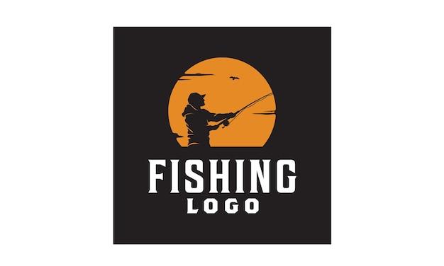 Ispirazione al design del logo di pesca