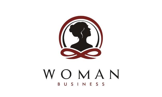 Ispirazione al design del logo di terapia della donna