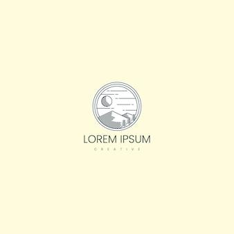 Ispirazione del design del logo mountain