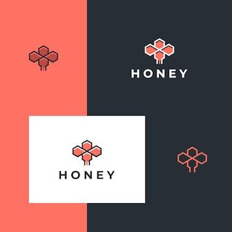 Ispirazione di design semplice poligono miele ape logo