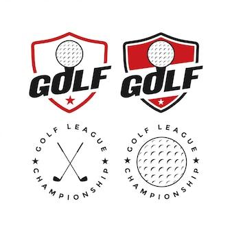 Ispirazione di disegno grafico di vettore di sport di golf