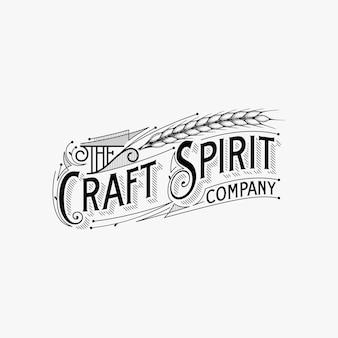 Ispirazione di progettazione di logo di tipografia dell'annata