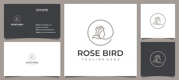 Ispirazione moderna del design del logo del fiore