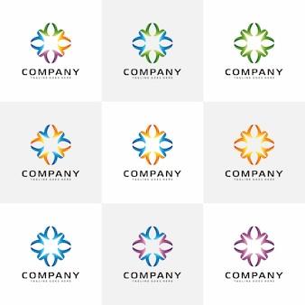 Ispirazione moderna del logo astratto