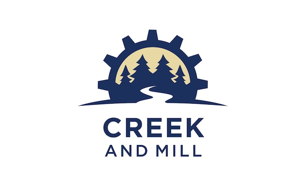 Ispirazione per il design del logo creek and mill