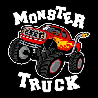 Ispirazione per il design del logo monster truck