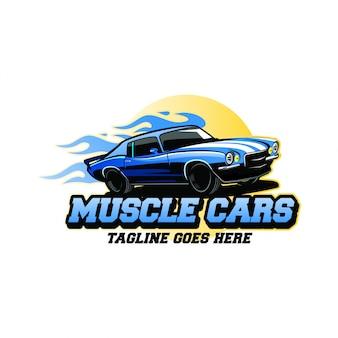 Ispirazione per la progettazione del logo di muscle car