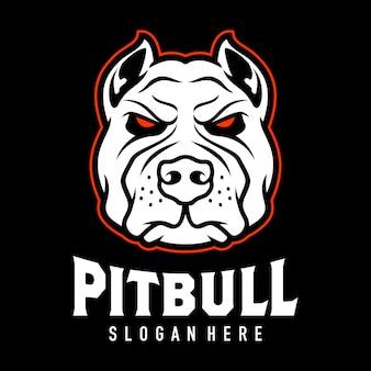Ispirazione per la progettazione del logo di pitbul head