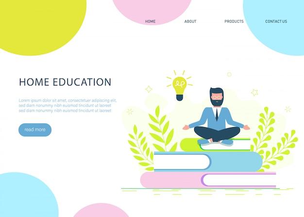 Istruzione, corsi di formazione online, illustrazione di istruzione a distanza.