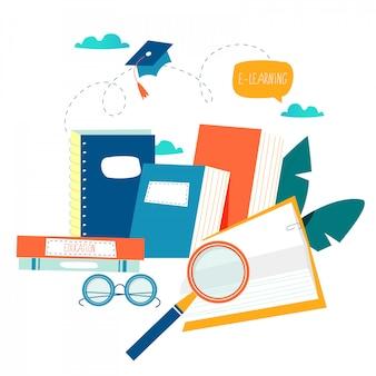 Istruzione, corsi di formazione online, tutorial e libri online