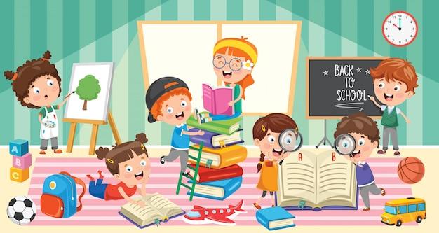 Istruzione di piccoli studenti