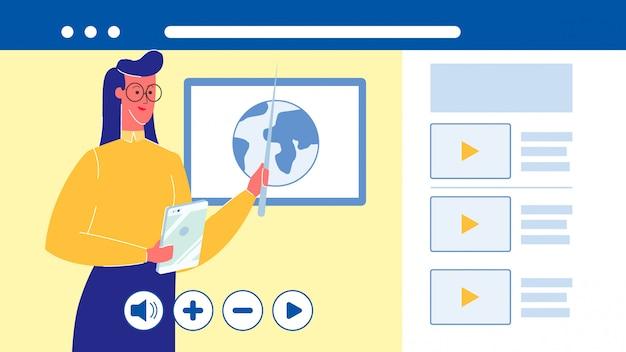 Istruzione online, illustrazione vettoriale università