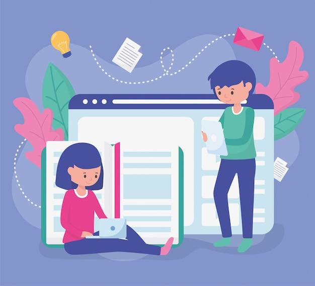 Istruzione scolastica degli studenti online