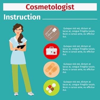Istruzioni per attrezzature mediche per cosmetologo