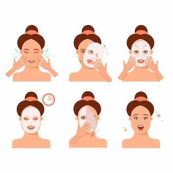 Istruzioni per l'uso corretto di una maschera per fogli