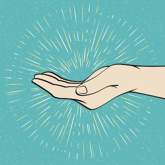 Ive me segno di mano illustrazione vettoriale