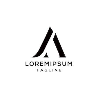 Ja lettera iniziale logo