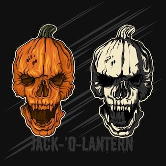 Jack-´o-lantern zucche di halloween