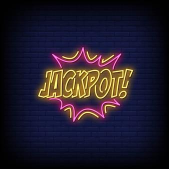 Jackpot neon singboard