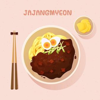 Jajangmyeon cibo coreano