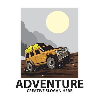 Jeep da viaggio in montagna