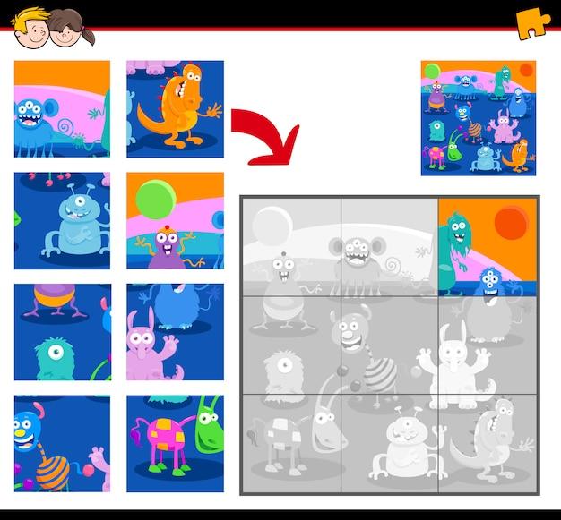 Jigsaw puzzle con personaggi mostruosi