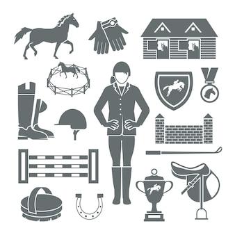 Jockey icone nere