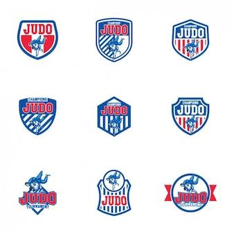 Judo logo modelli di progettazione