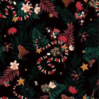 Jungle seamless pattern vettoriale