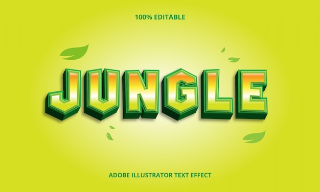Jungle text effect editable