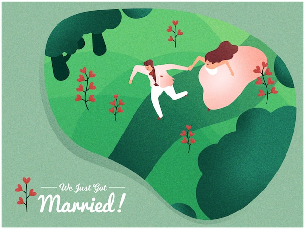 Just married vector design