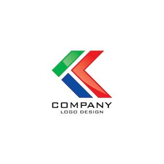 K simbolo logo design vettoriale