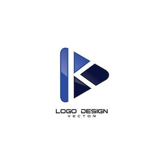 K symbol media logo design