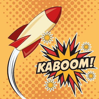 Kaboom esplosione pop art design comico