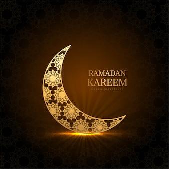 Kareem creativo del ramadan con il fondo della luna