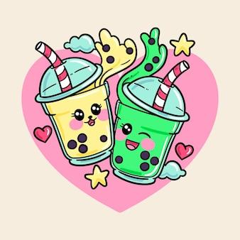 Kawaii bubble tea illustrazione